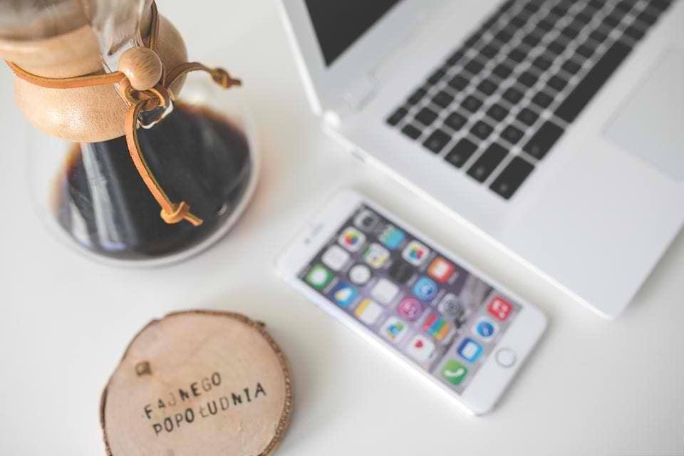 laptop coffee desk