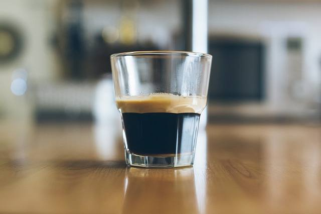 an espresso coffee shot