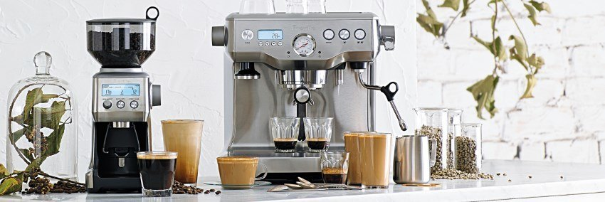 A semi automatic espresso machine