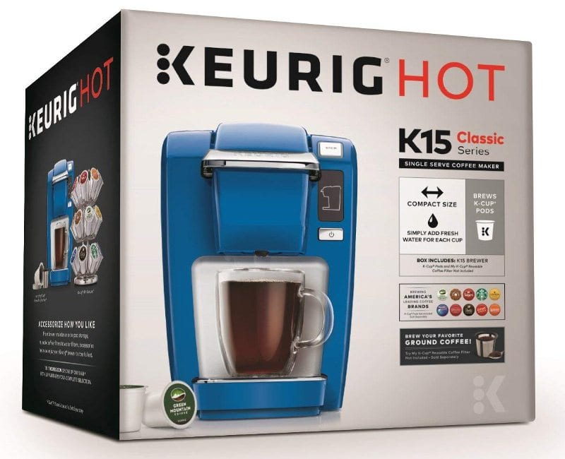 box of keurig k15
