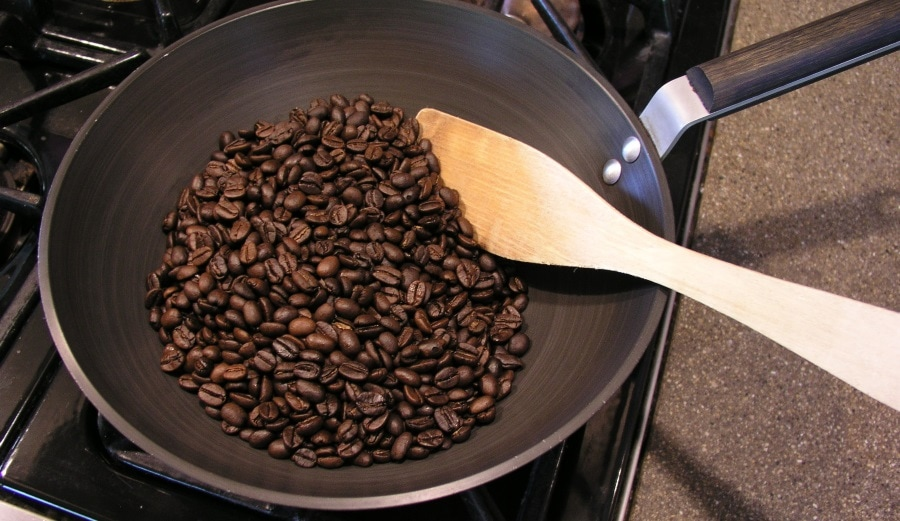 Roasting my own coffee beans