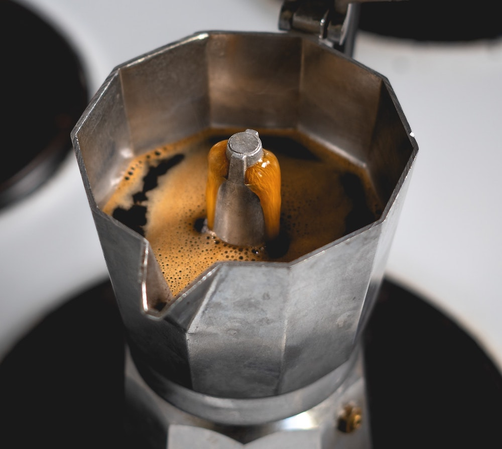 Moka pot coffee