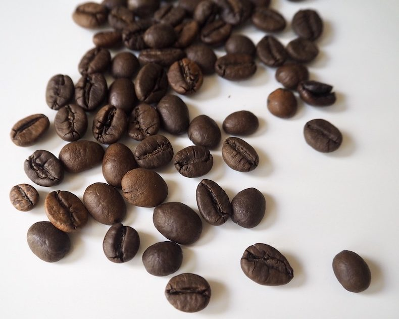 Whole Robusta coffee beans
