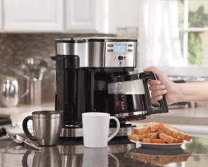 a dual coffee maker