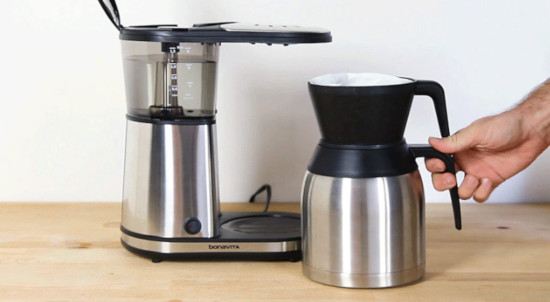 coffee maker on the table