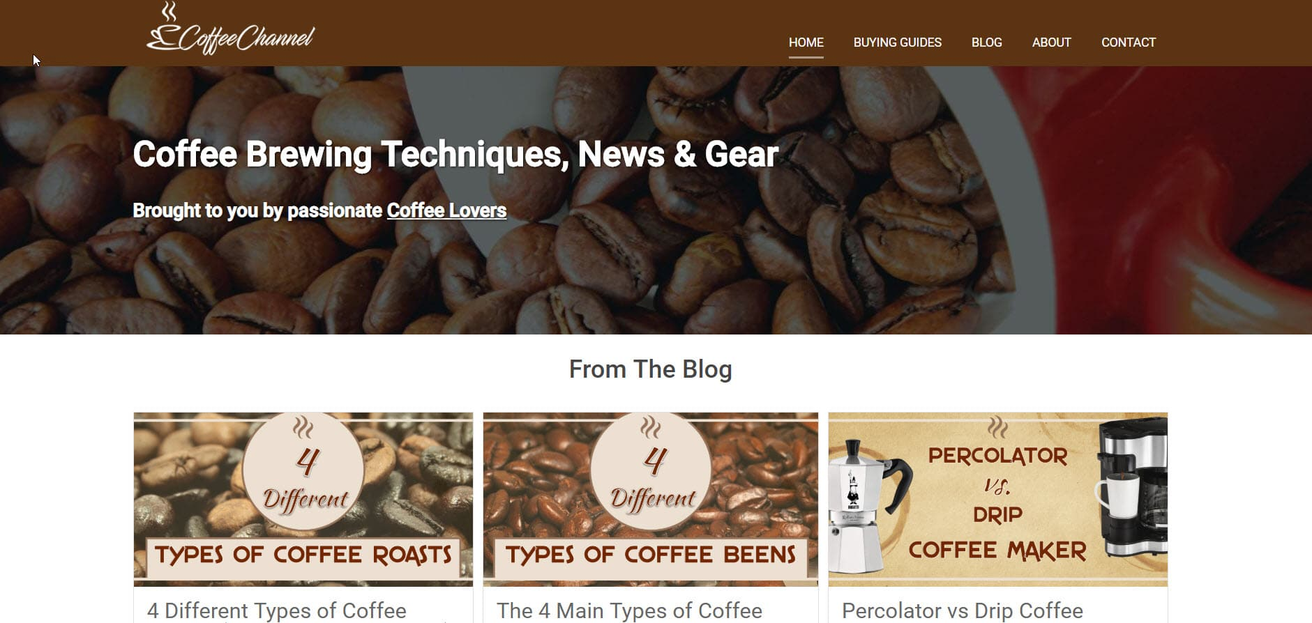 Coffee Channel Homepage