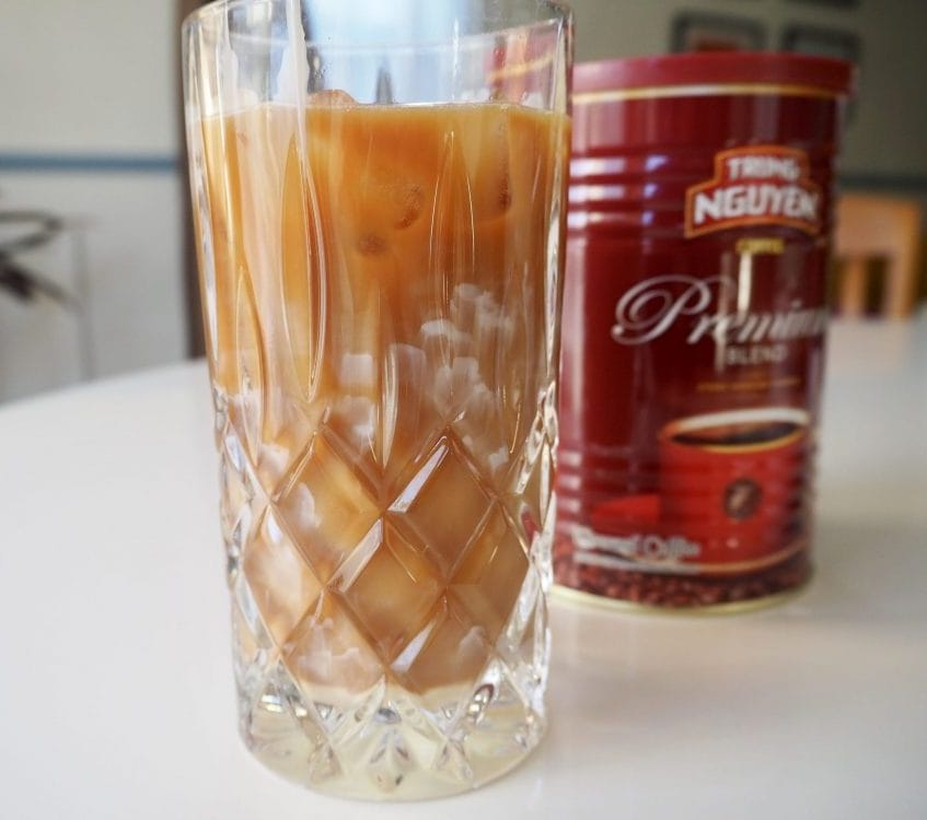 Vietnamese iced coffee at home