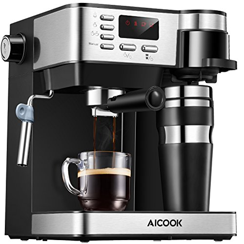 AICOOK Espresso and Coffee Machine 3 in 1 Combination