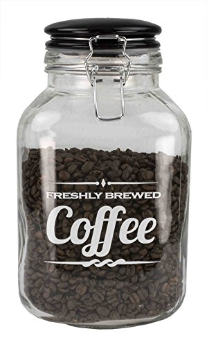 Home Basics Coffee Glass Container (GJ44588)