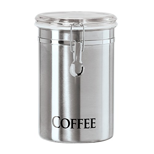 "Oggi 62-Ounce Brushed Stainless Steel ""Coffee"" Airtight Canister"