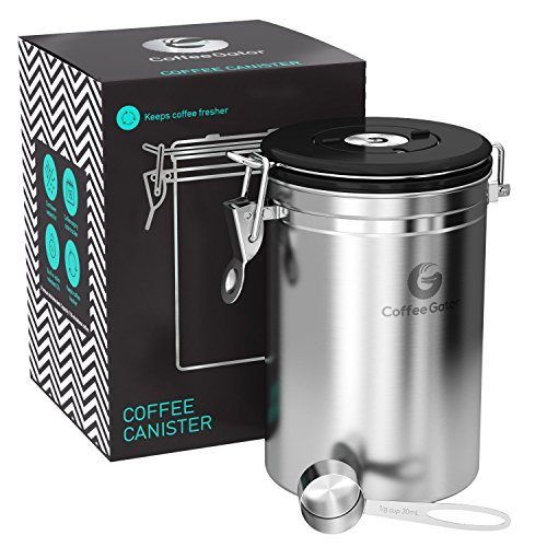 Coffee Gator Stainless Steel Container with co2 Valve