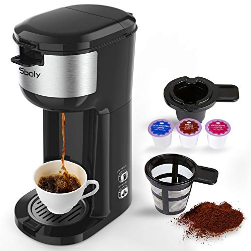 Sboly Single Serve K Cup Coffee & Ground Coffee Maker