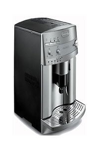 A coffee maker with grinder