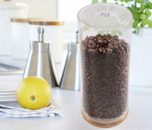 a coffee bean storage container