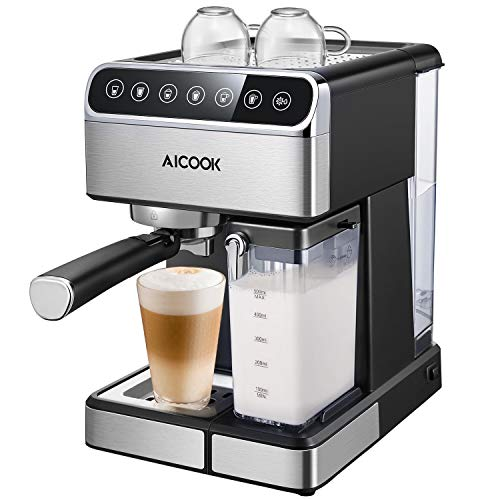 AICOOK Espresso Machine with Cappuccino Maker & Milk Frother