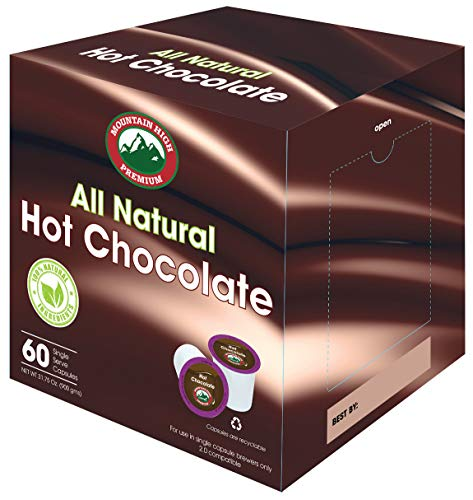 Mountain High All Natural Hot Chocolate K Cups (Milk Chocolate)