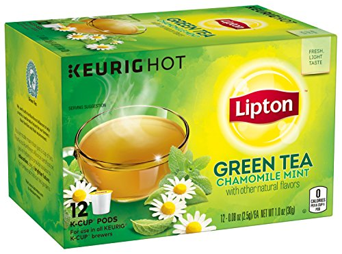 Lipton Green Tea K Cups, Chamomile Mint