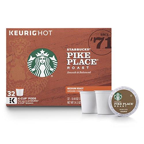 The Starbucks Pike Place Roast Medium Roast K-Cup Pods