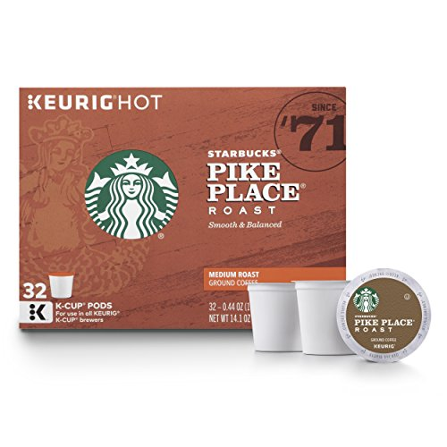 Starbucks Pike Place Medium Roast K Cup Coffee Pods