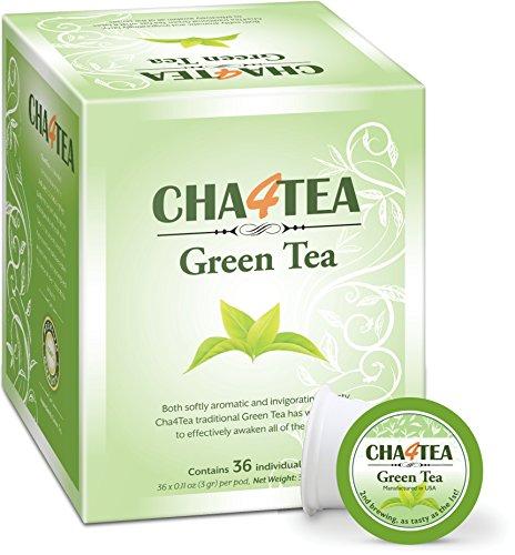 Cha4TEA 36-Count Green Tea K Cups