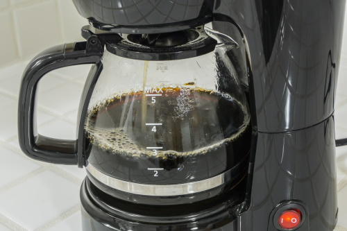 Brewing coffee in a coffee maker
