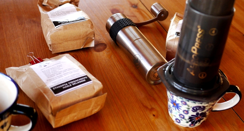 Brewing with the aeropress