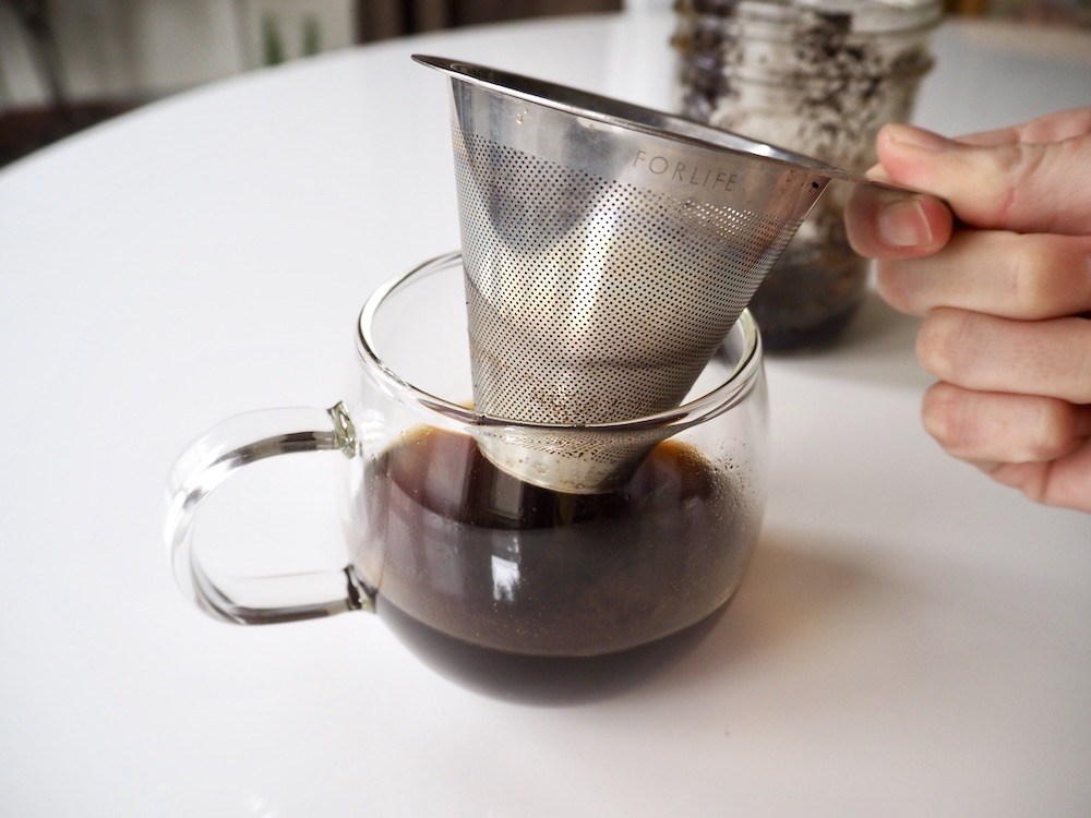 Mesh strainer coffee filter substitute