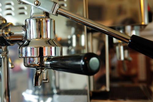 a hand lever espresso machine