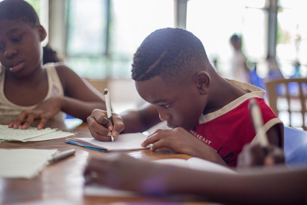 kids focusing on schoolwork