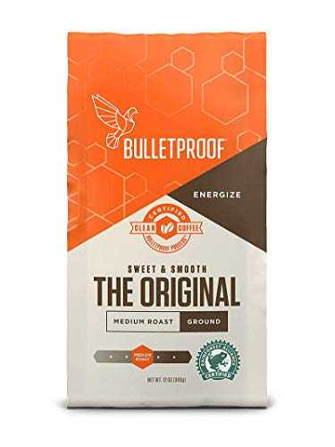 Bulletproof The Original Ground Coffee, Premium Medium Roast Gourmet Organic Beans