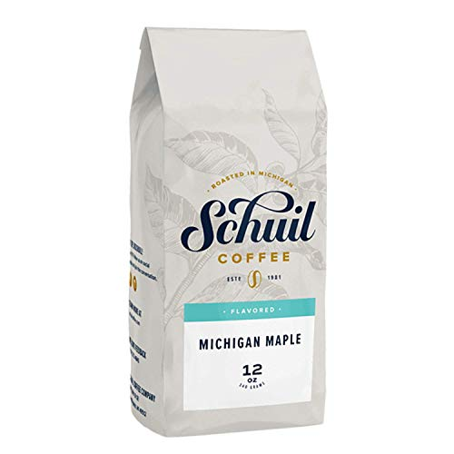 Schuil Whole Bean Coffee, Fair Trade Premium Roasted Gourmet Coffee Beans, Smooth and Full Bodied Artisan Coffee (Michigan Maple, 12 oz)