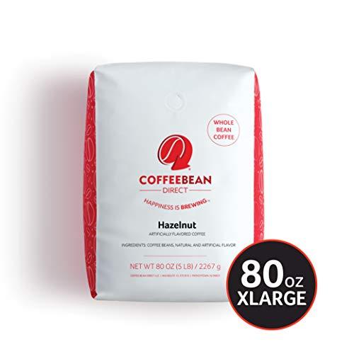Coffee Bean Direct Hazelnut Flavored, Ground Coffee, 5-Pound Bag