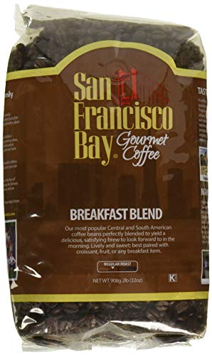 San Francisco Bay Coffee, Breakfast Blend - Whole Bean, 2-Pound