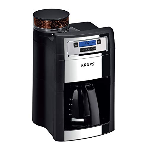 KRUPS 10-Cup Grind & Brew Coffee Maker with Built-in Coffee Grinder