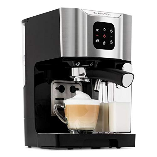 Klarstein BellaVita Coffee Machine • 3-in-1 Function for Espresso, Cappuccino and Latte Macchiato