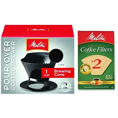 Melitta Pour Over Coffee Cone Brewer and Filter Set