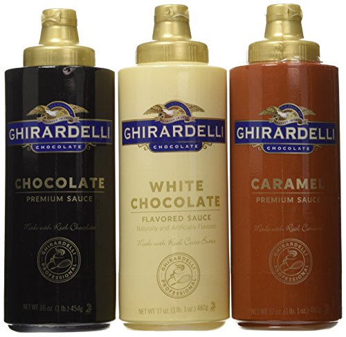Ghirardelli Squeeze Bottles (Caramel, Chocolate & White Chocolate)