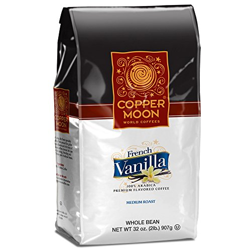Copper Moon Whole Bean Coffee French Vanilla 2 Pound Whole Bean