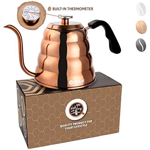 OPUX Gooseneck Pour Over Coffee Kettle