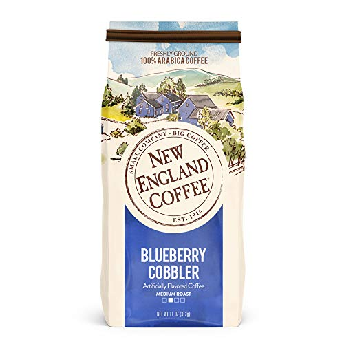 New England Coffee Blueberry Cobbler, Medium Roast Ground Coffee