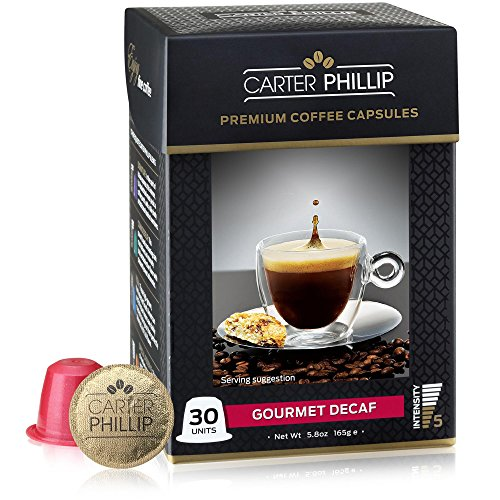 Carter Phillips Decaf Espresso Capsules Compatible with Nespresso
