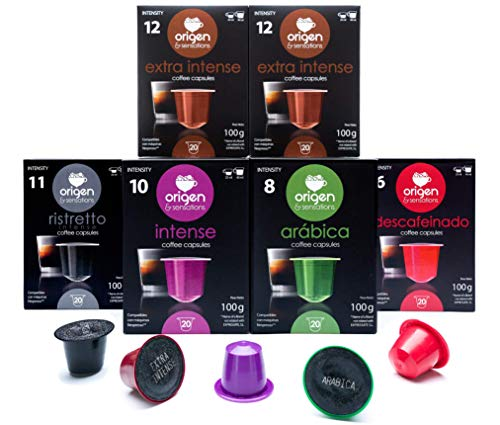 Origen and Sensations' Nespresso Compatible Capsules - 120 Pods Pack