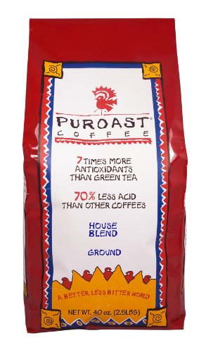 Puroast Low Acid Coffee House Blend Drip Grind
