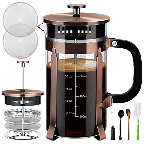 Veken French Press Coffee Maker (8 cups, 34 oz)