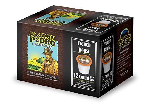 Café Don Pedro French Roast 72 Count Kcup Low-Acid Coffee