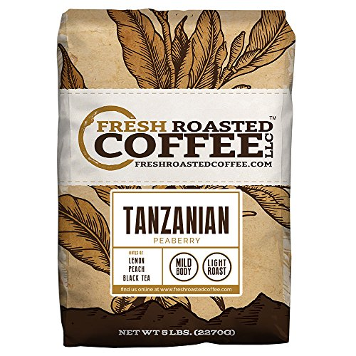 Tanzanian Peaberry Coffee, Whole Bean Bag, Fresh Roasted Coffee LLC