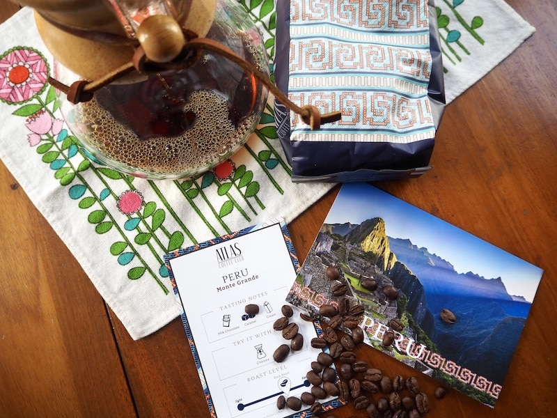 Atlas Coffee Club subscription Peru dark roast coffee