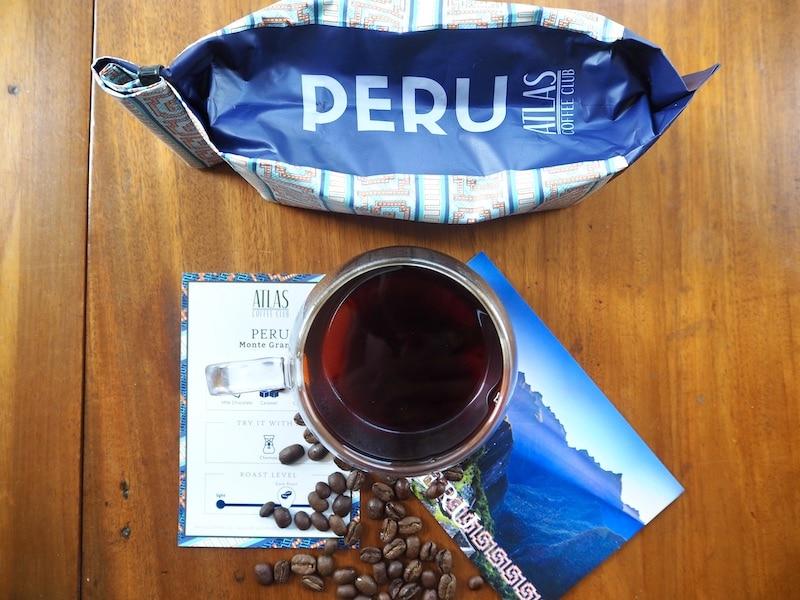 Atlas Coffee Club Peruvian brewed coffee