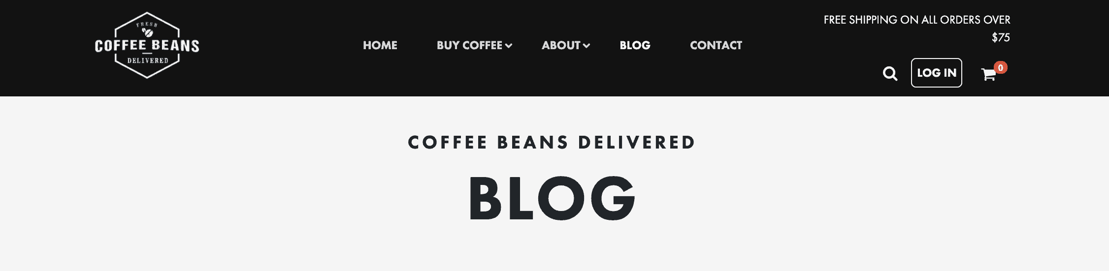 Coffee Beans Delivered Blog