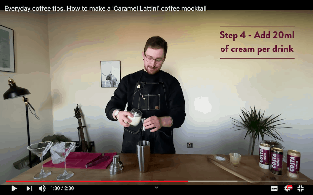Costa Coffee YouTube Channel